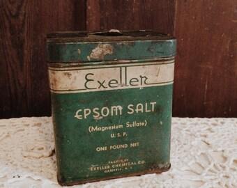 Antique Epsom Salt Tin