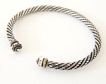 Sterling Silver Torque Bracelet, Torc Bracelet, Sterling Silver Bangle, Viking Bracelet, Celtic Bracelet, Celtic Bangle, Gift For Her, 925