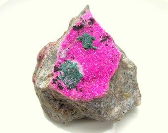 AAA Cobalto Calcite Crystal Druzy on Matrix NATURAL Gemstone Mineral Specimen Natural Hot Pink color