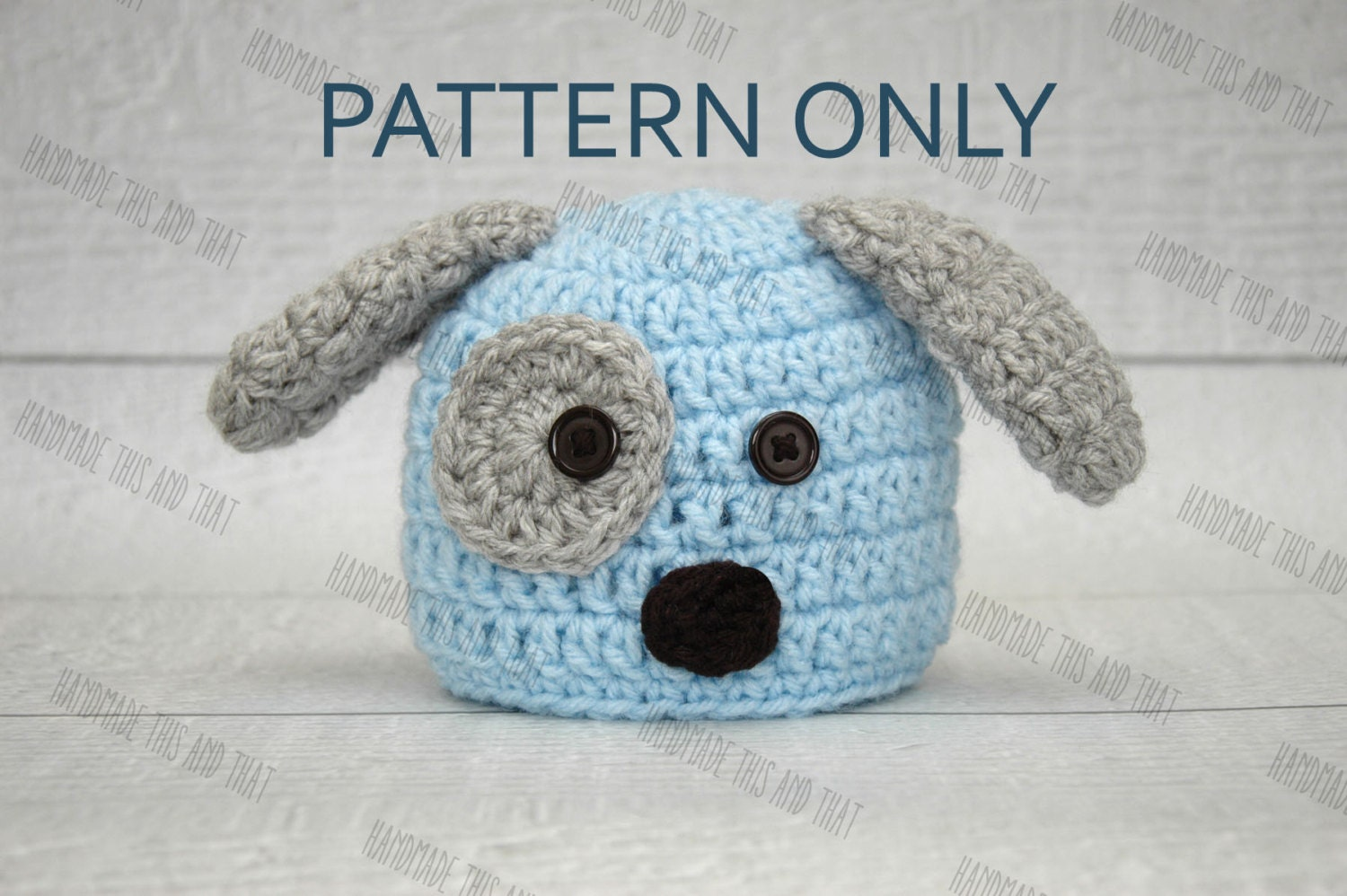 CROCHET PATTERN - Newborn puppy dog hat and diaper cover pattern ...