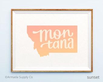 Montana print - Montana art - Montana poster - Montana wall art