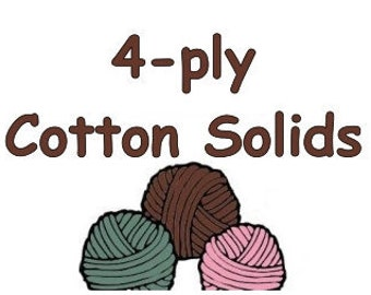 """50g SOLID """"4-ply"""" cotton yarn fingering weight to coordinate with Bre-Aly Gradients"""