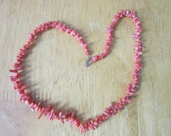 Antique Art Deco Real Branch Coral Necklace