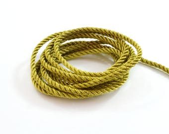 Twisted cord 4 mm diameter gold color