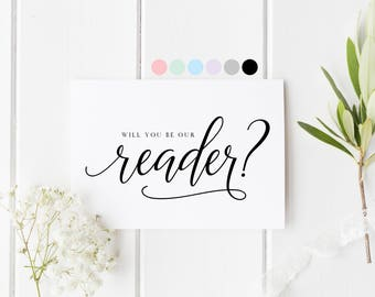 Will You Be Our Reader Card, Will You Read At Our Wedding, Reader Wedding Card, Will You Be Our Reader, Wedding Card For Friend, Reader Card