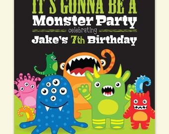 Monster Party Birthday Invitation