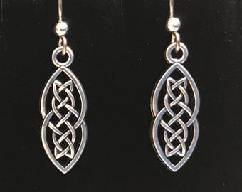 Niobium hypoallergenic celtic knot earrings