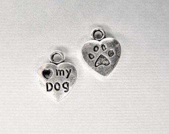 13mm, 25CT. I love my Dog Heart Charms, Y48
