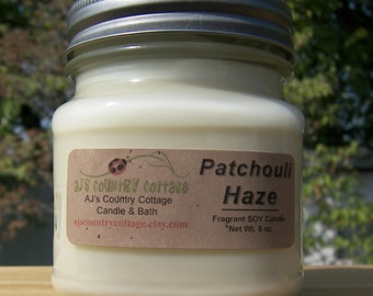 PATCHOULI HAZE SOY Candle - Earthy Candles - Patchouli Candles - Soy Candles