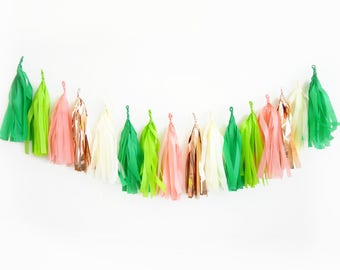 Summer Cactus Tassel Garland  | Taco Chic Fiesta Green Rose Gold