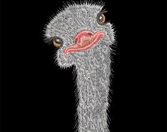 Machine Embroidery Design - Ostrich - 2 sizes
