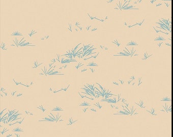 Growth Stone, Bound fabrics, April Rhodes, Art Gallery Fabrics, nature, grass, cream, blue