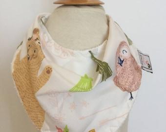 custom bandana bib ~ woodland whimsy ~  drool bib ~ chic couture ~ baby accessories ~ custom bandana bib from lillybelle designs