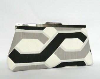 Geometric Clutch, Clutch Purse, Geometric Design, Bridesmaids Clutch, Ladies Gift, Evening Clutch, Handmade UK