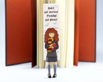 New Hermione bookmark. Hermione Granger unusual gift for book lover, her, mom, women, teen girl, teacher, coworker, granny, child, sister.