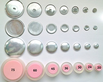 Size 60 Wire Back Cover Button Starter Kit (6)