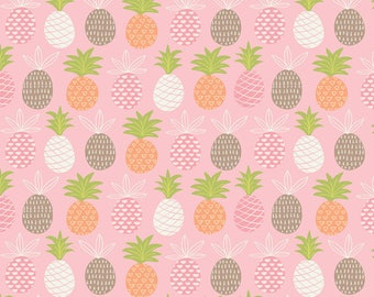 Miney Moe by Maude Asbury Tropical Hello Pink from Blend Fabrics