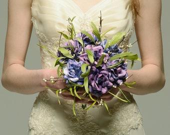 Purple Music Sheet Roses - Paper Wedding Bouquet