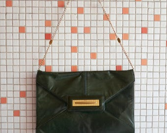 German Green Pine Leather Purse