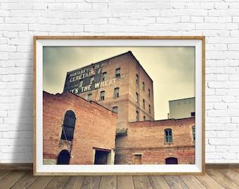 "rustic wall art, instant download, printable art, large art, large wall art, printable wall art, wall art, art print  - ""Montana Flour Mill"""