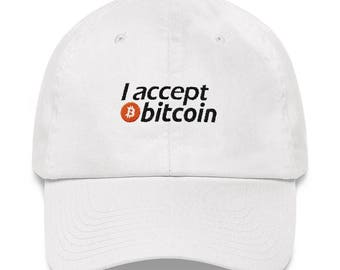 I Accept Bitcoin - Embroidered Hat // Funny Bitcoin Hat // Bitcoin Accepted Hat // Cryptocurrency Hat // Trendy Hat // Cool Hat // Bitcoin