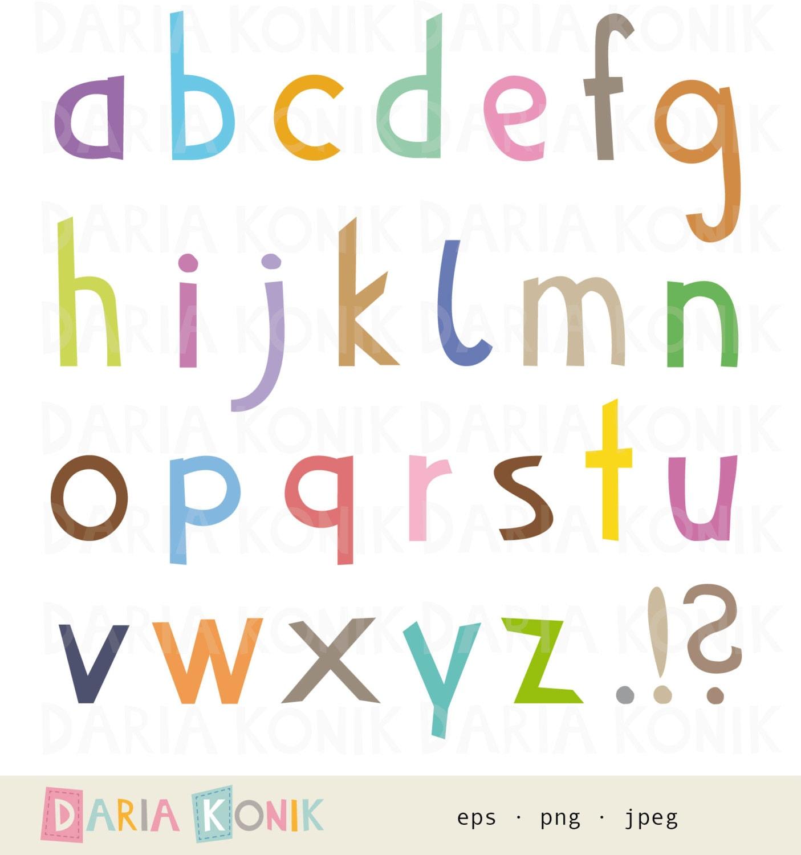Alphabet Clip Art Set-A-Z lowercase letters full stop