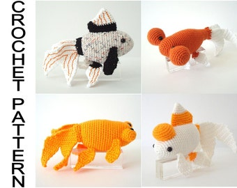 Fancy Goldfish Varieties Crochet Pattern  Amigurumi Goldfish Pattern Crochet Fish Digital Download Pattern Stuffed Fish Pattern Pdf File