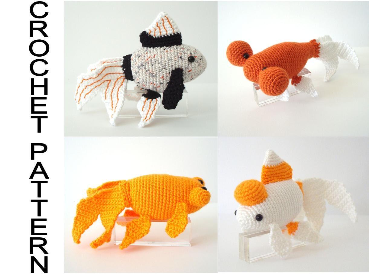 Fancy Goldfish Varieties Crochet Pattern Amigurumi Goldfish Pattern ...