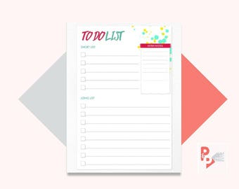 TO DO List Happy Planner Printable Inserts, Create 365, Happy Planner Insert, Happy Planner Classic, MAMBI Planner, Instant Download