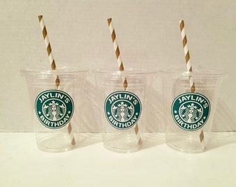 Starbucks Themed Disposable Cups with Lid