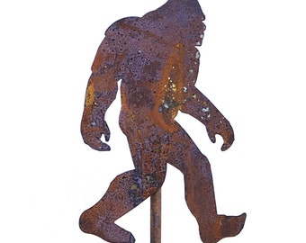 Big Foot Sasquatch Yeti Metal Garden Art Stake-Home and Garden Decor