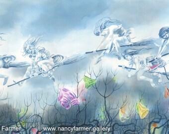Maiden Flight - art print by Nancy Farmer