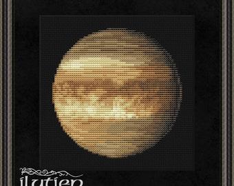 Venus cross stitch pattern Solar system planet space astronomy embroidery PDF
