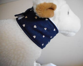 Cat or very small dog feeding tube cover - Blue hearts