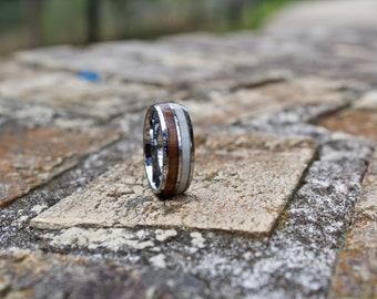 FREE Shipping, Antler Ring, Mens Antler Ring, Antler Wedding Band, Mens Wedding Band, Mens Wooden Ring, Wedding Band, Wood Ring