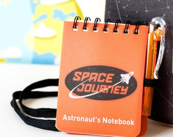 Space Case with Notebook, Space Notebook, Space Notebook Toy, Astronaut Notebook, Outer Space Case, Outer Space Notbook, Space Book