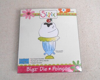 Sizzix Bigz Die Ice Cream Sundae Destash