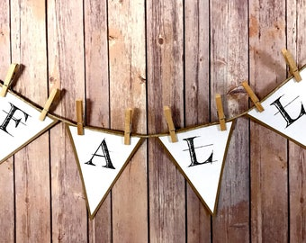 Fall Pennant Banner - Autumn Banner, Fall Festival, Harvest Festival, Holiday and Home Decor, Shabby Chic, Farmhouse Banner, Rustic Banner