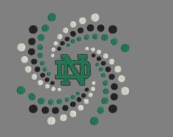 Notre Dame machine embroidery design