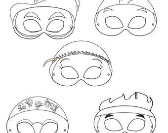 Paws Printable Character Party Masks printable masks dog