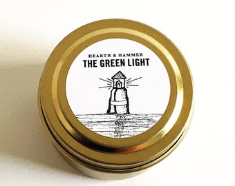 The Green Light Travel Tin Literary Candle