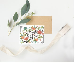 Thank You Bold Floral Greeting Card