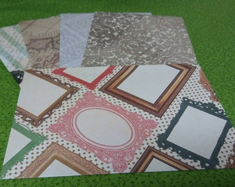 Large Handmade Paper Envelopes - Set of 5 in Old Fashioned Designs