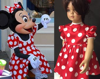 Baby dress + Mini mouse outfit + Baby mini mouse dress + mini mouse dress + Bubbles Baby dress +baby birthday dress .