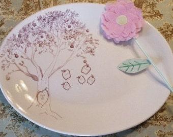 Christmas Gift, Holdiays, Thanksgiving, Family Platter family Tree Personalized Couples  Apple Tree, Dish, Platter Wedding Gift, Anniversary