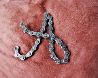 UpCYCLEd bike chain Custom Letters
