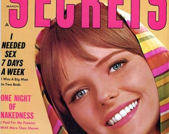 Secrets Magazine  1969  22 Year Old Cheryl Tiegs Cover  Many consider her as America's First Supermodel  Plus more great stuff