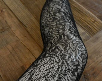 Floral Fishnet Hosiery Tights Seamless Tights Gift for Her