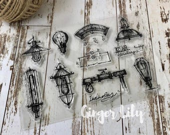 Clear Stamp Set - Vintage Light Bulbs