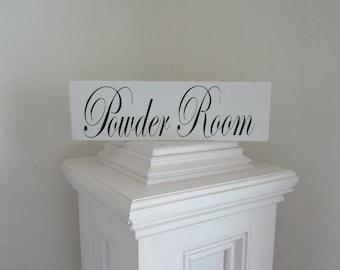 Wood Powder Room sign bathroom decor restroom decor water closet antique bathroom sign